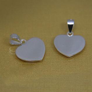 Simple Heart 925 Sterling Silver Custom Personalized Blank