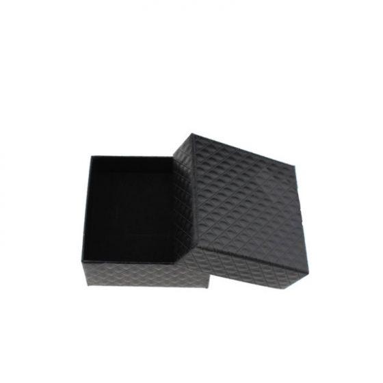 Bandbox Paper Pendant Ring Necklace Jewelry Black Box