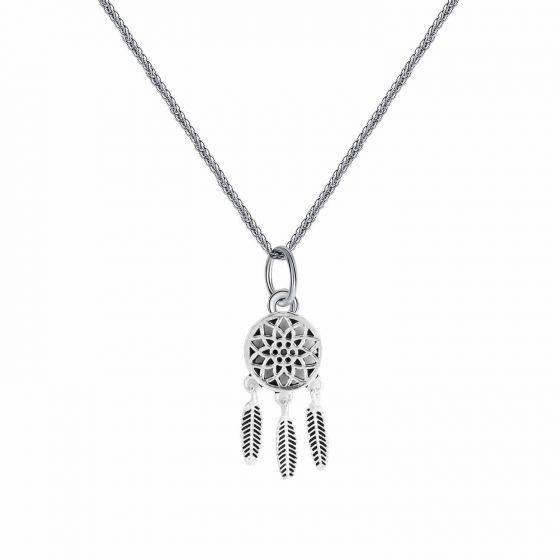 Trendy Hollow Flower Tassel 925 Silver Charm