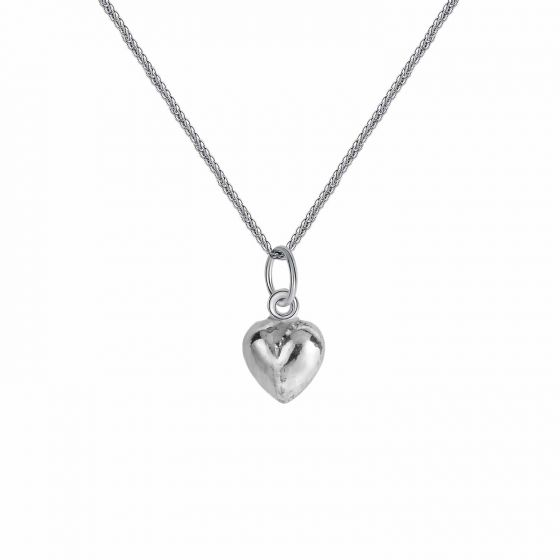 Simple Heart 925 Sterling Silver DIY Charm