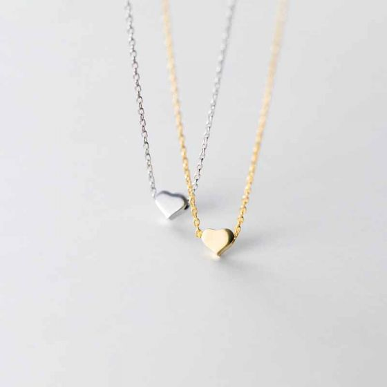Mini Heart Girl 925 Sterling Silver Necklace