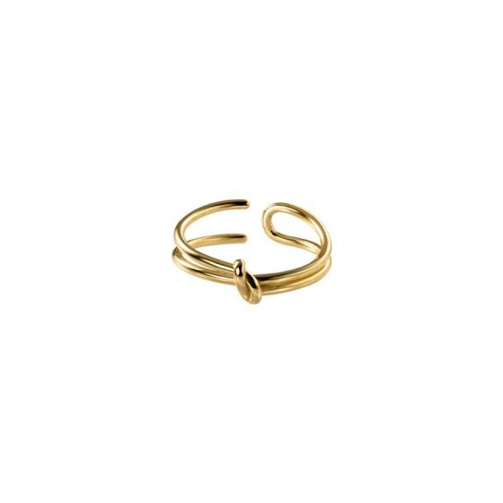 Classic Double Layer Knot 925 Sterling Silver Adjustable Ring