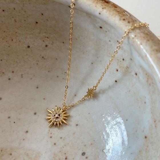 Promise CZ Sunshine 925 Sterling Silver Necklace