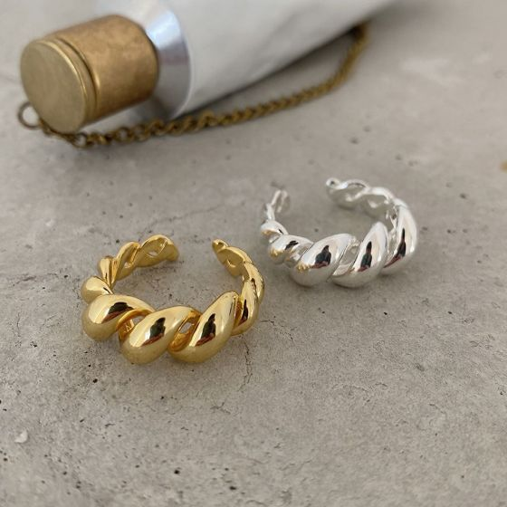 Simple Twisted Rope 925 Sterling Silver Adjustable Ring