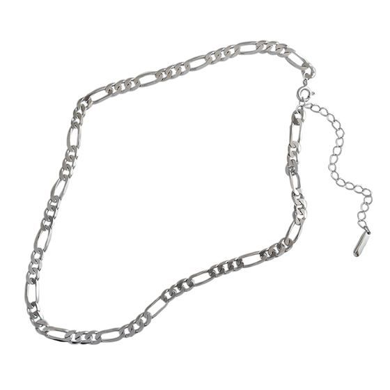 Hollow Chain Choker 925 Sterling Silver Necklace