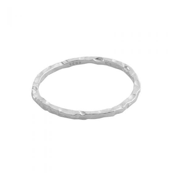 Minimalism Irregular Face 925 Sterling Silver Ring