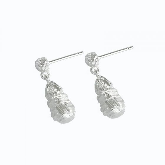 Irregular Waterdrop 925 Sterling Silver Dangling Earrings