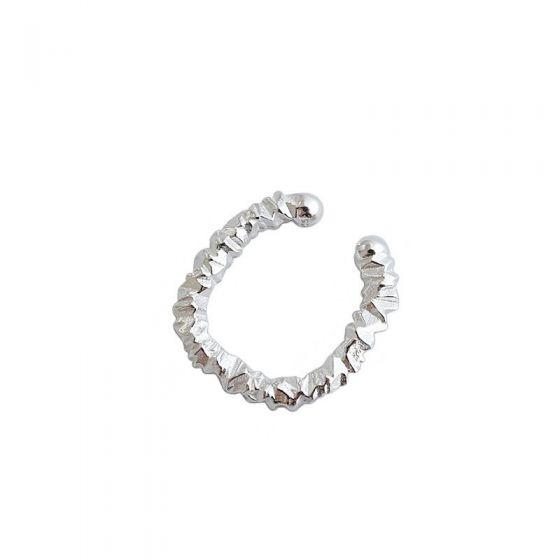 Irregular Circle925 Sterling Silver Non-Pierced Earring(Single)