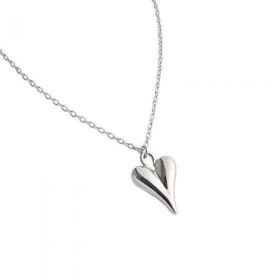 Girl Irregular Heart 925 Sterling Silver Necklace