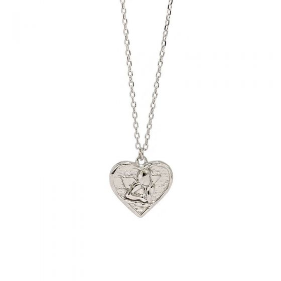 Gift Angel Heart 925 Sterling Silver Necklace