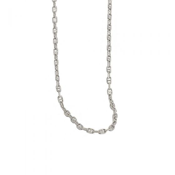 Choker Pig Nose 925 Sterling Silver Stacking Chain Necklace