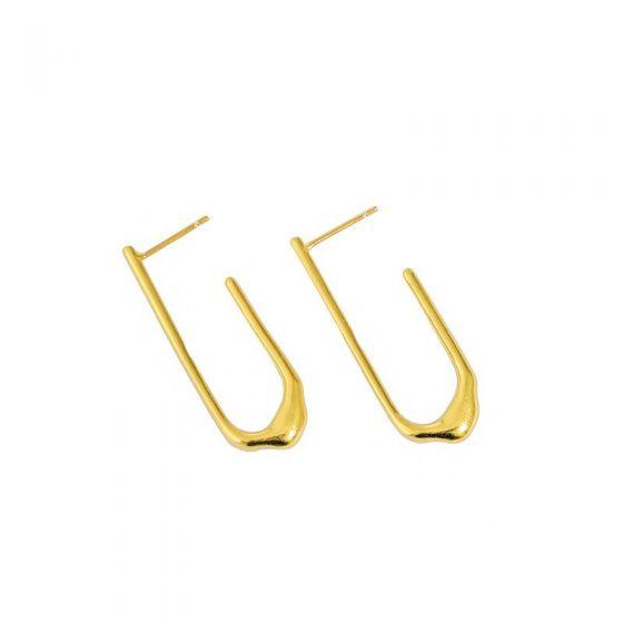 Fashion U Shape 925 Sterling Silver Dangling Earrings