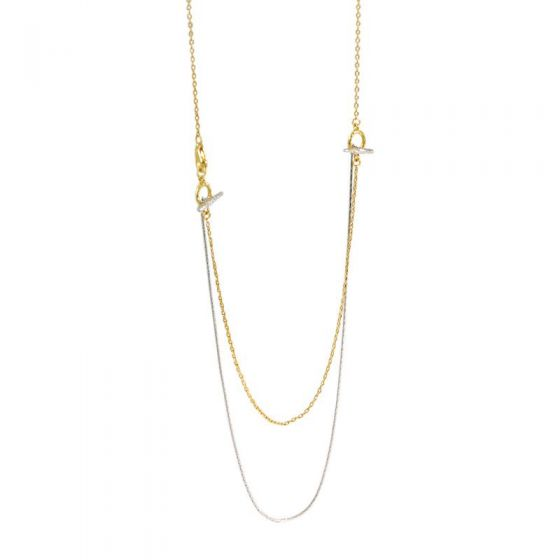 Double Layer OT Shape 925 Sterling Silver Necklace