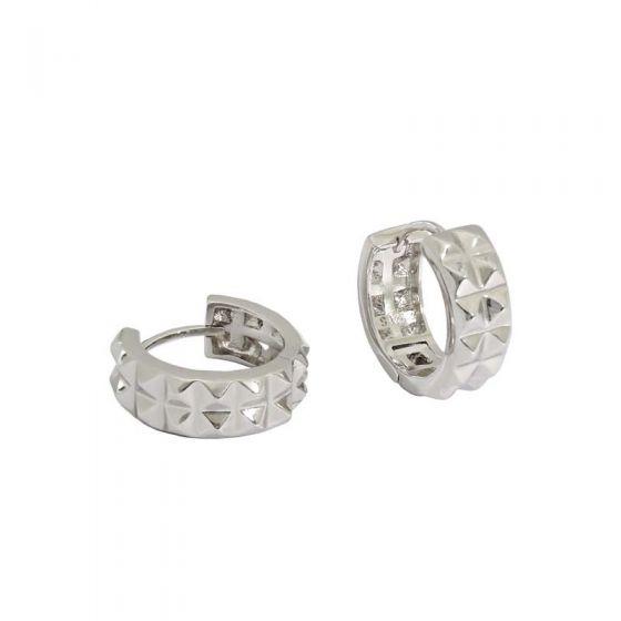 Fashion Gear 925 Sterling Silver Hoop Earrings