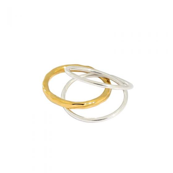 Fashion Triple Layer 925 Sterling Silver Ring