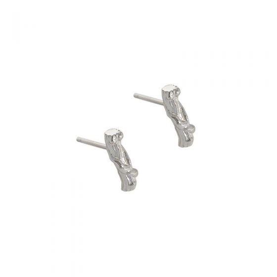 Simple Irregular Tree Branch 925 Sterling Silver Stud Earrings