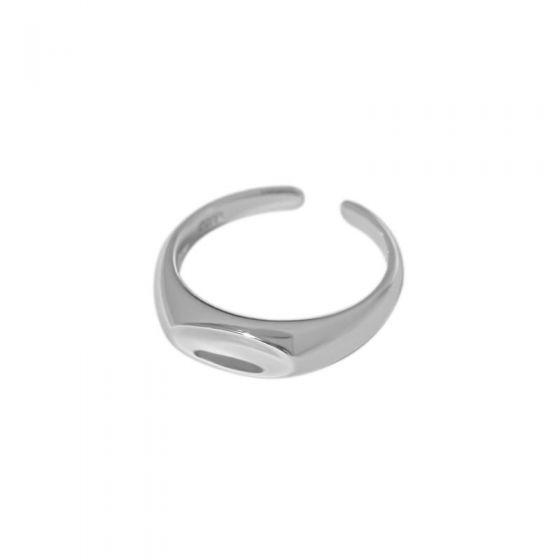 Minimalism Geometry Arc 925 Sterling Silver Adjustable Ring