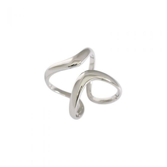 Fashion Hollow Irregular 925 Sterling Silver Adjustable Ring