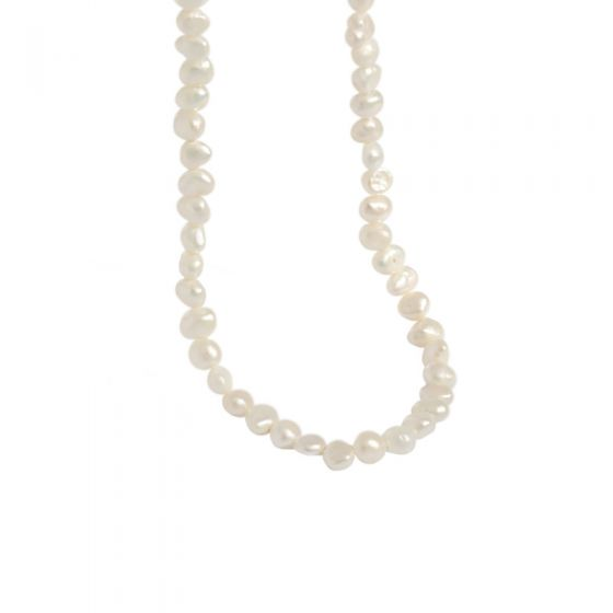 Fashion Baroque Freshwater Pearl 925 Sterling Silver Necklace