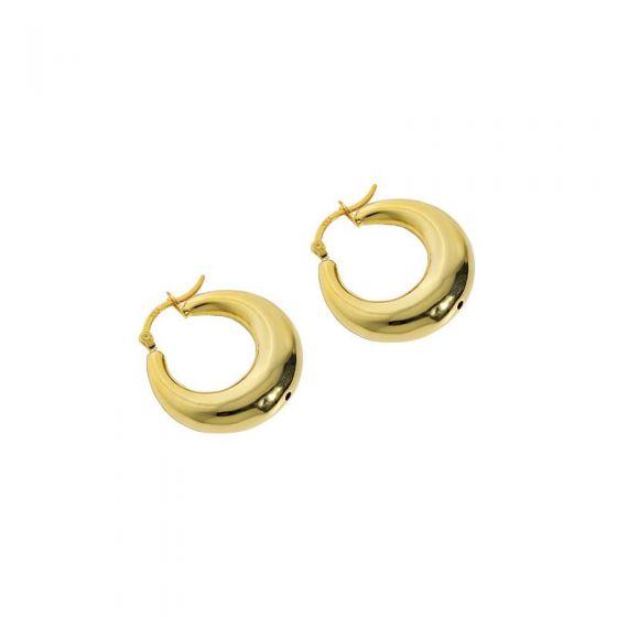 Simple Mini Circles Geometry 925 Sterling Silver Hoop Earrings