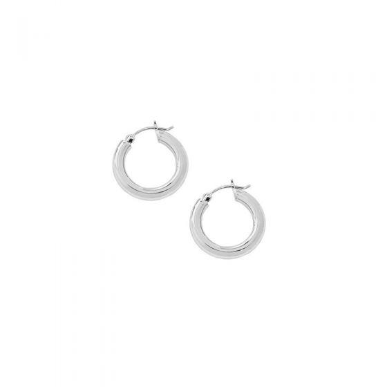 Minimalism Geometry Mini Circles 925 Sterling Silver Hoop Earrings