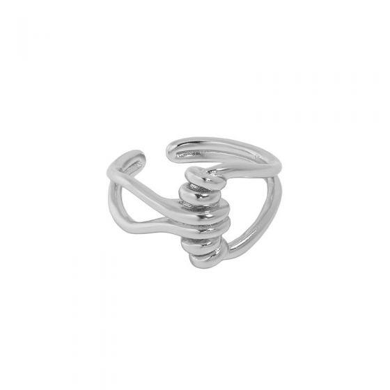 Minimalism Twist Knot 925 Sterling Silver Adjustable Ring