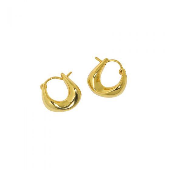 Fashion Geometry Agravity Circles 925 Sterling Silver Hoop Earrings