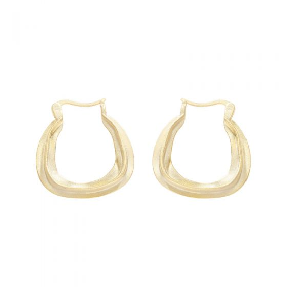 Fashion Geometry Round 925 Sterling Silver Hoop Earrings