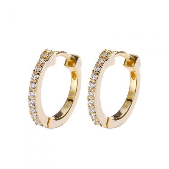 Office CZ 925 Sterling Silver Hoop Earrings