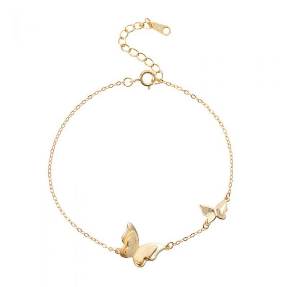 Mother Child Butterflies Girl 925 Sterling Silver Bracelet