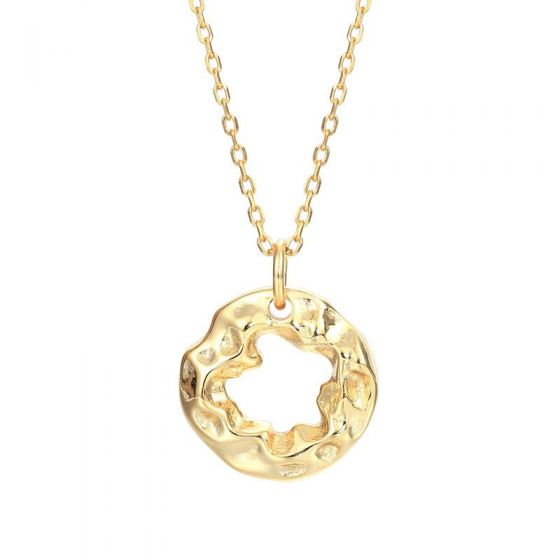 Irregular Circle 925 Sterling Silver Necklace