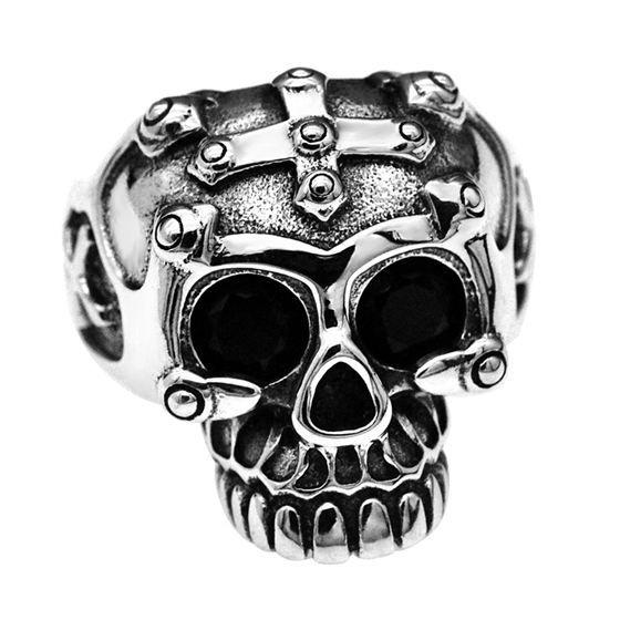 Vintage Cool Skull 925 Sterling Silver Adjustable Ring