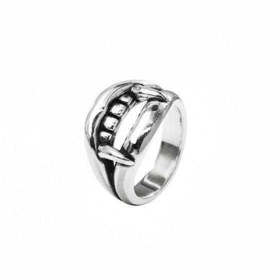 Men Vampire Tooth Vintage 925 Sterling Silver Ring