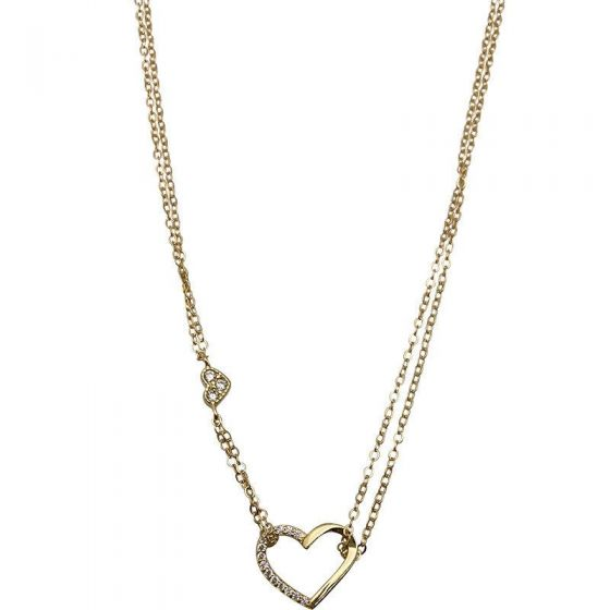 Asymmetry Hollow Heart 925 Sterling Silver Necklace