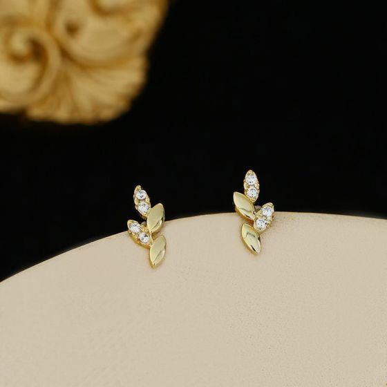 Simple Mini Heart CZ Star Geometry 925 Sterling Silver Stud Earrings