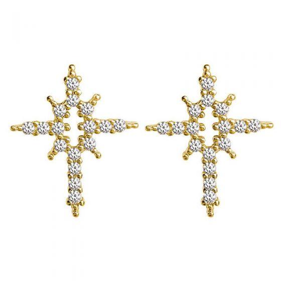 Fashion Shining Stars 925 Sterling Silver Stud Earrings