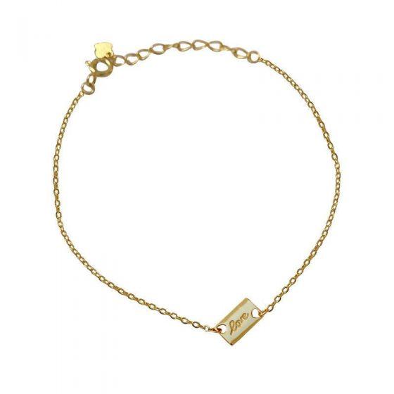Simple Love Letters Geometry 925 Sterling Silver Bracelet