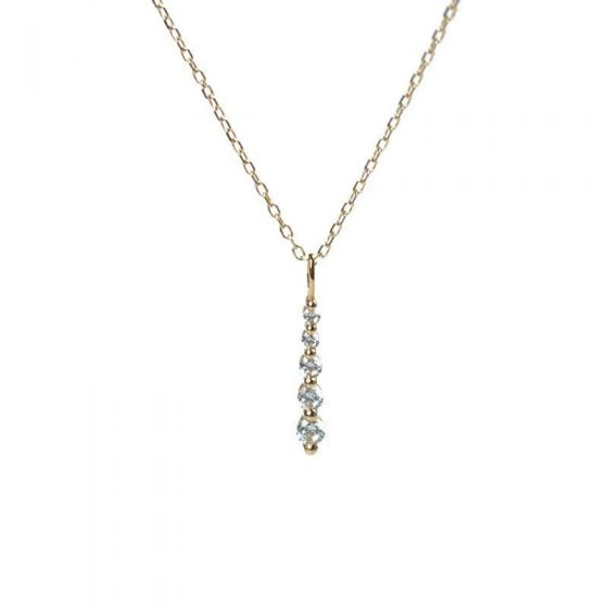 Classic CZ Stick 925 Sterling Silver Necklace