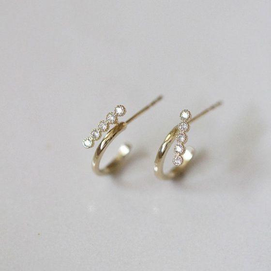 Casual Mini C Shape 925 Sterling Silver Stud Earrings
