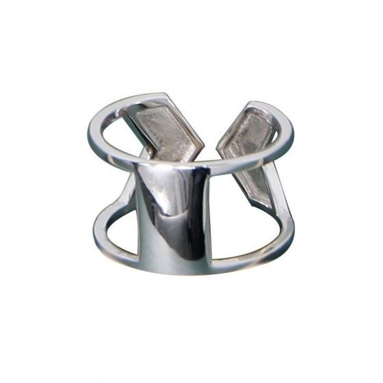 Fashion Arrow 925 Sterling Silver Wide Adjustable Ring