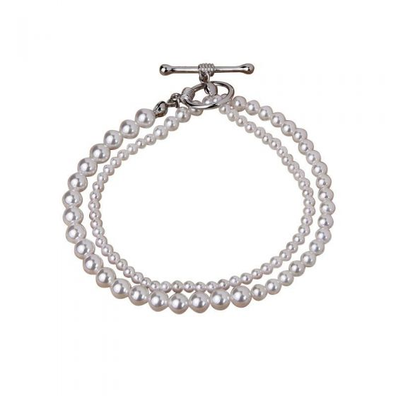 Choker OT Shape Shell Pearls 925 Sterling Silver Necklace