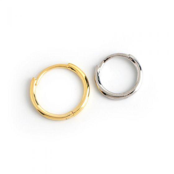 Simple Mini Circles 925 Sterling Silver Hoop Earrings