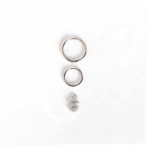 Fashion A - Z Letters 925 Sterling Silver Leverback Earrings