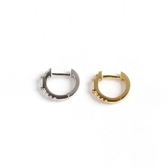 Simple Rectangle CZ 925 Sterling Silver Leverback Earrings