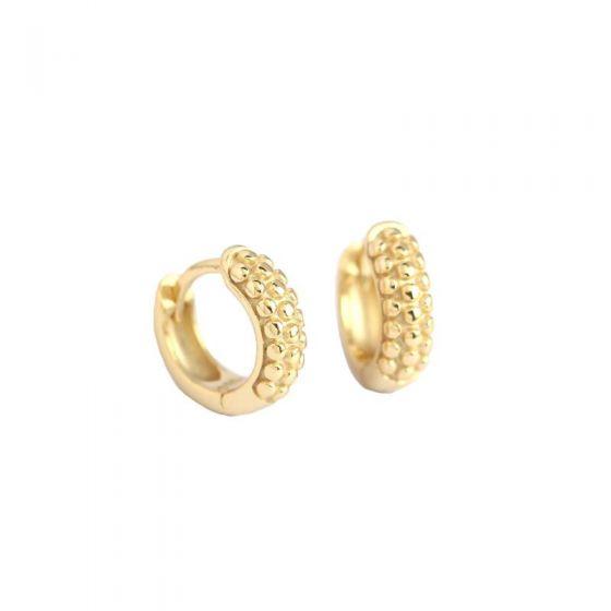 New Geometry Beads 925 Sterling Silver Hoop Earrings