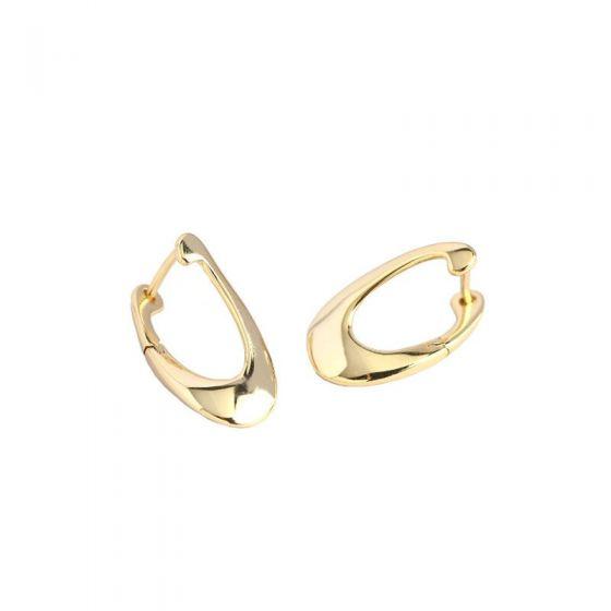 New Irregular Hollow Geometry 925 Sterling Silver Hoop Earrings