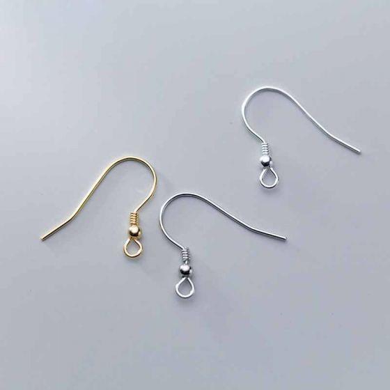 Minimalism 925 Sterling Silver DIY Earring Hooks