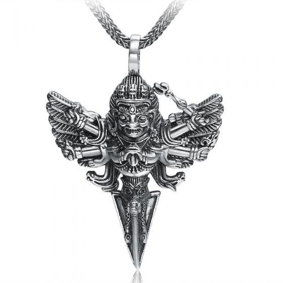 Fashion Oxide The Statue Of Thailand 925 Silver Pendant Man