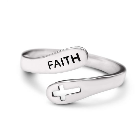 Christian Faith 925 Sterling Silver Ring