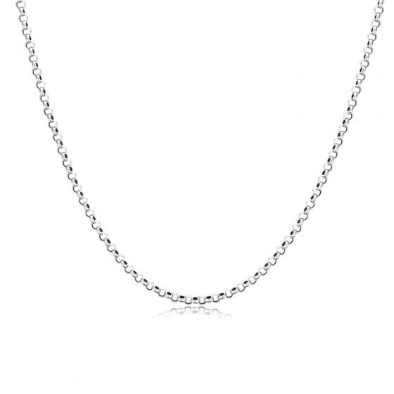 """Vintage Flat Cable Thai Chain 925 Sterling Silver Necklace Men (20""""/22""""/24"""")"""